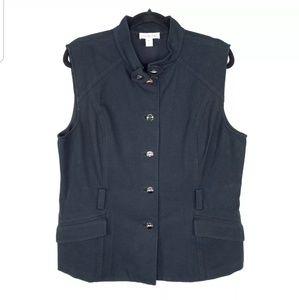 St John Sport Button Down Vest Jacket Casual Black